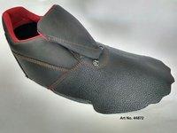 Black Buff Split Leather Safety Shoe Upper