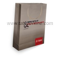 Printed White Craft Paper Bag