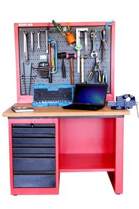 Work Station With Perforated Panel