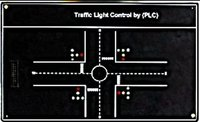 Traffic LED Light Control By PLC