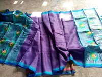 Hand Painted Pure Tussar Silk Dupatta