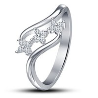 Vorra Fashion 925 Sterling Silver White Cubic Zircon Promise Ring