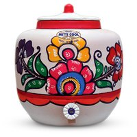 Earthen Water Pot (With Painting 13 Liters)