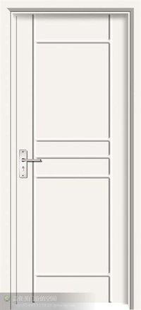 Wood Composite Wpc Door With Pvc Film Coated