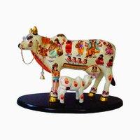Hand Painted Kamdhenu Cow/ Calf