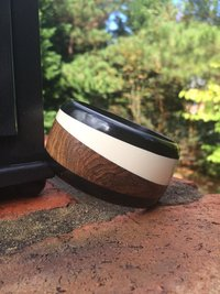 Wooden & Black/White Resin
