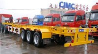 3 Axles 40Ft Container Skeletal Semi Trailer