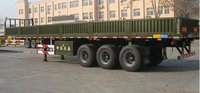 Tri-Axle Flatbed Trailers With High Boards