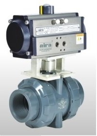 Upvc Ball Valve With Pneumatic Actuator