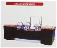 Acrylic Soup Display Counter