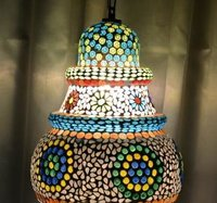 Colored Mosaic Hanging Lamp