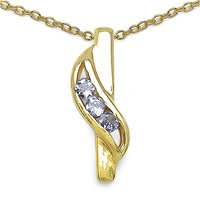 Tanzanite 925 Sterling Silver Gold Plated Pendant