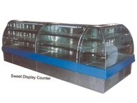Bend Glass Display Counter
