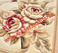 Handmade Cut Loop Tufted Jacquard Wool Carpet