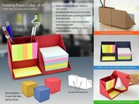 Folding Paper Cube (With Memo Pad And Tumbler)