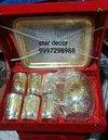 Brass Silver Plated Jug Glass Set