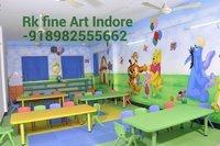 Preschool Wall Classroom Cartoon Painting