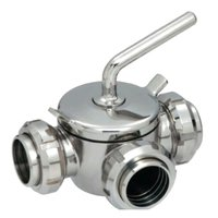 3 Way Dairy Plug Valves