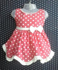 Girls Embroidered Cotton Frock