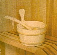 Sauna Bath Bowl with Spoon