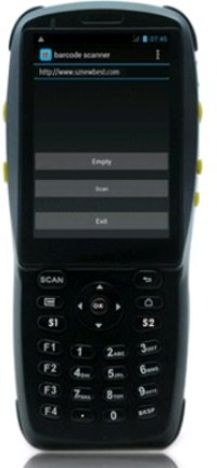 Touch Screen Handheld Pda Barcode Scanner