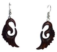 Feather Style Wooden Earrings
