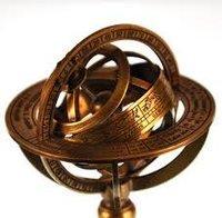 Brown Antique Brass Armillary