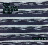 Denim French Terry Stripes Fabrics