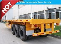 3 Axle 40FT Flatbed Truck Semi Trailer