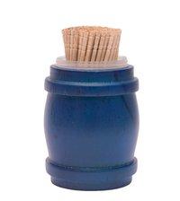 Barrel Toothpick Holder Blue
