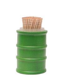 Drum Toothpick Holder Green