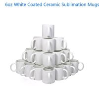 6oz White Ceramic Sublimation Cups