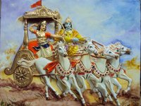 Krishna Arjun With Chariot Painting