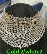 American Diamond Choker Set