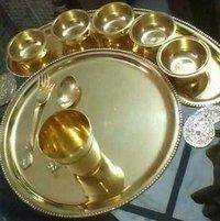 Brass Maharaj Thali Set