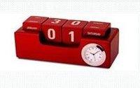 Desktop Calender With Clock