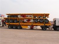 Sinotruk 3 axles 43ft 60tons Flatbed Trailer With sidewall