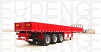 40Ft 3 Axle With Container Locks Side Wall Semi Trailer