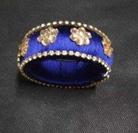 Beautiful Silk Thread Homemade Partywear Blue Bracelet