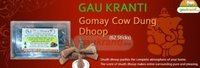 Gaukranti Gomay Cow Dung Dhoop (62 Sticks)