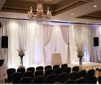 Corporate Meeting Background Pipe And Drape Stands For Decoration