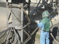 Industrial Blasting Painting Services On Iron