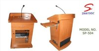 Teak Plywood With Natural Polish Finish Wooden Podium
