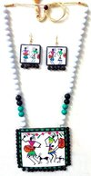 Favorable Warli Painting Terracotta Necklace Set