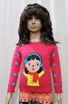 Intarsia Girl Kid Sweaters