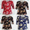 Ladies Fancy Printed Stretchable Tops