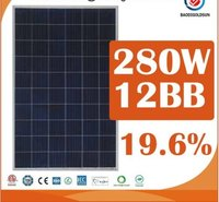 280w 12bb Solar Panel For Home Using
