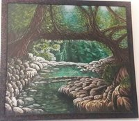 Canvas Acrylic Nature Wall Painting
