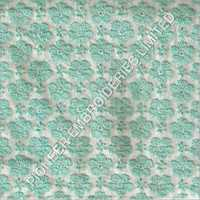 Embroidered Green Designer Fabric