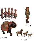 Wooden Decorative Animals Figure